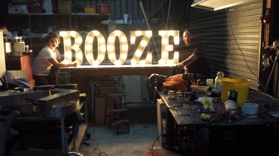 booze marquee light